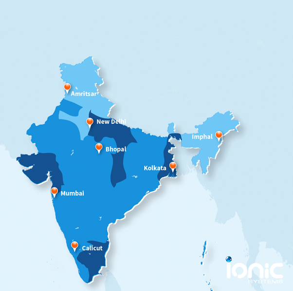 Map showing the quality of water in India