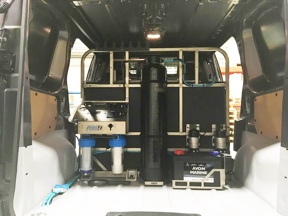 Proteus system mounted in van