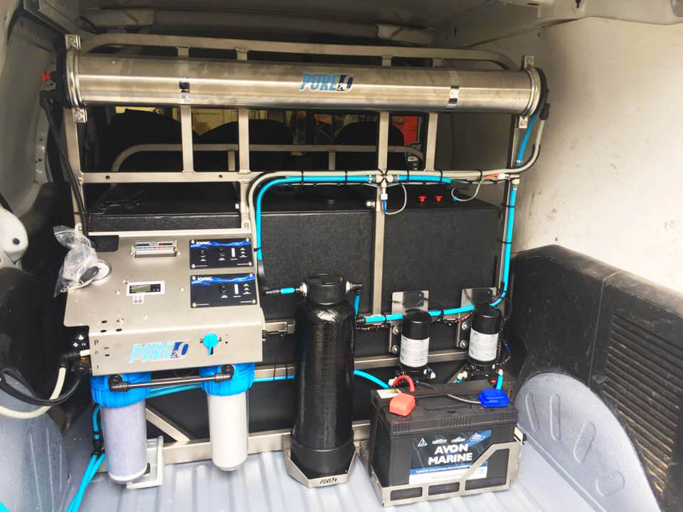 Triton system mounted in van