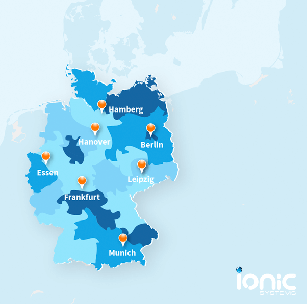 Map showing the quality of water hardness in Germany