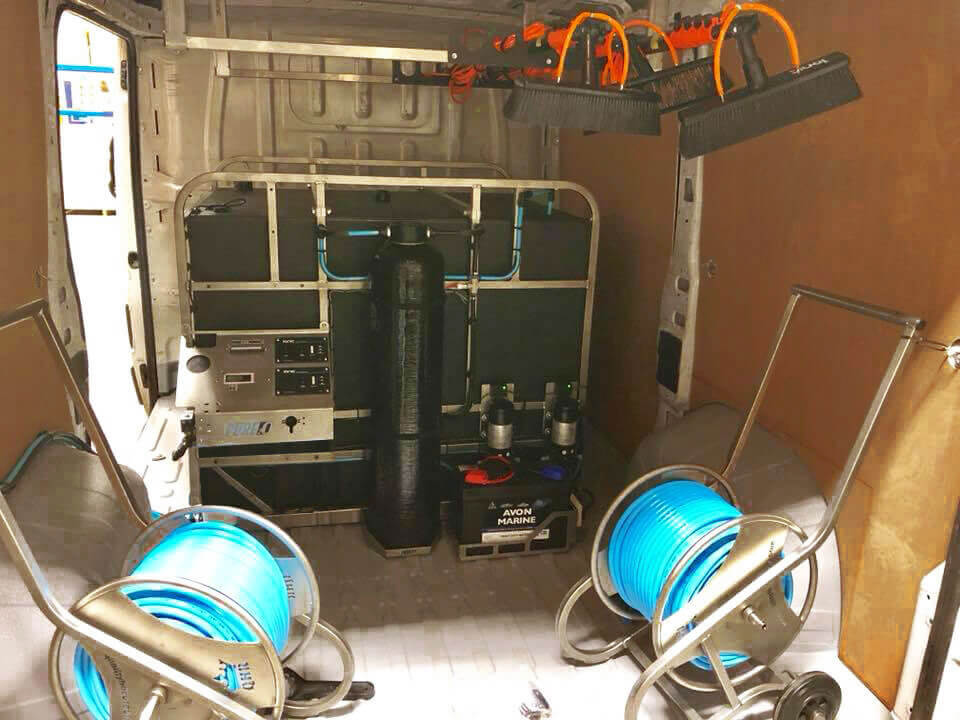 Hydros system mounted in van