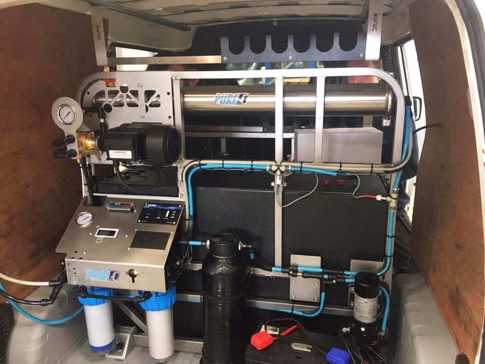 Titan system mounted in van